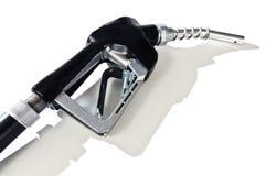 Black Fuel Pump Nozzle With Shadow Stock Image