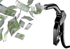Black fuel tap euro Stock Image