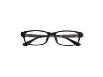 Black full frame glasses isolation on white Stock Images