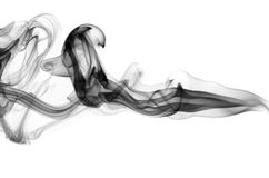 Black fume on white Stock Photo
