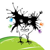 Black funny monster Royalty Free Stock Image