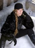 Black fur coat Stock Photography
