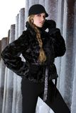 Black fur coat Royalty Free Stock Photography