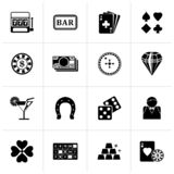 Black Gambling and Casino icons. Vector icon set vector illustration