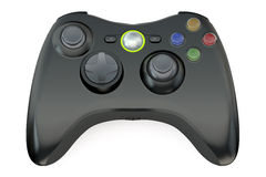 Black game controller Stock Images