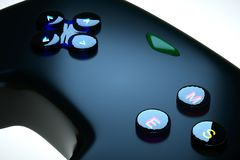 Black game joystick Stock Images