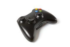 Black Gamepad isolated on white. Stock Image