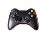 Black Gamepad isolated on white. Stock Photo