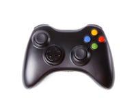 Black Gamepad isolated on white. Stock Photo