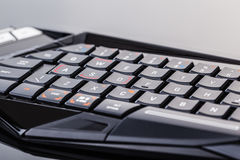 Black gaming keyboard Royalty Free Stock Photos