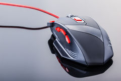 Black gaming mouse Royalty Free Stock Photo