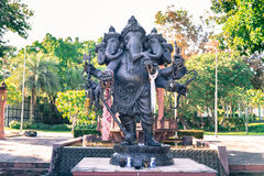 Black Ganesha god of success with offers in the landmark at Rajapruek park Stock Image