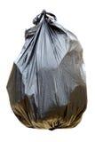 Black garbage bag Stock Images
