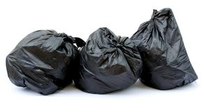 Black garbage bag Royalty Free Stock Photos
