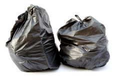Black garbage bag Stock Photography