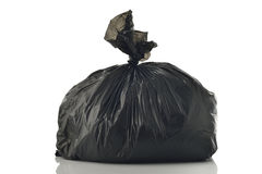 Black Garbage bag Stock Images