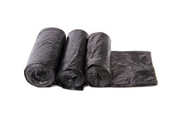 Black garbage bag  packages Royalty Free Stock Image
