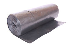 Black garbage bags Royalty Free Stock Photos