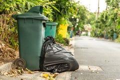 Black garbage bags Stock Image