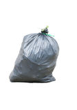 Black garbage bags isolated Stock Photography