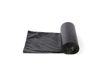 Black garbage bags package Royalty Free Stock Images