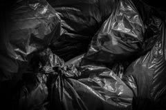 Black garbage bags Royalty Free Stock Images