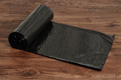 Black garbage bags Royalty Free Stock Image