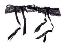 Black garter belt Royalty Free Stock Images
