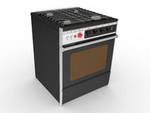 Black gas cooker Stock Image