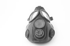 Black gas mask Stock Images