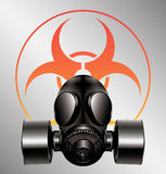 Black gas vector mask with biohazard symbol Royalty Free Stock Photos