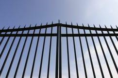 black gates säkerhetsstål Royaltyfria Bilder