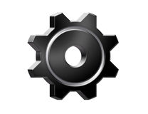 Black gear Stock Photography