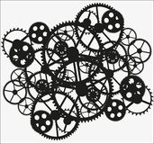 Black gear. S on white  background, vector illustration Stock Photography