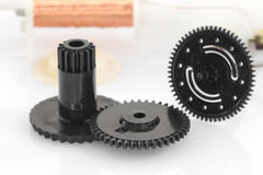 Black gear plastic wheel Stock Image