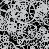 Black gear seamless black Royalty Free Stock Images