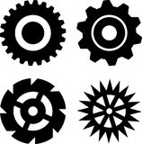 Black gears Stock Photos