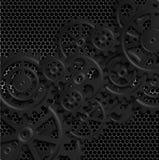 Black gears 06. Abstract mechanical background, illustration clip-art vector illustration