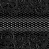 Black gears 07. Abstract mechanical background, illustration clip-art royalty free illustration