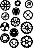 Black gears icons set, collection machine gear Royalty Free Stock Image