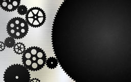 Black gears on a light background Royalty Free Stock Photos