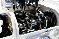 black gears metalliskt Arkivbilder
