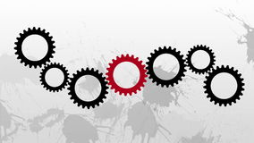 Black gears no work while red one does not establish balance