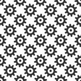 Black gears seamless pattern Royalty Free Stock Photos