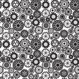 Black gears, steampunk seamless pattern Royalty Free Stock Photography