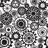 Black gears, steampunk seamless pattern Royalty Free Stock Photos
