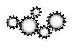 Black  gears Stock Image