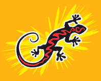 Black Gecko Stock Photography