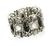 Black gemstone bracelet Royalty Free Stock Photography