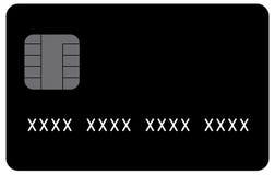 Black Generic Credit Card in Vector Format royalty free illustration